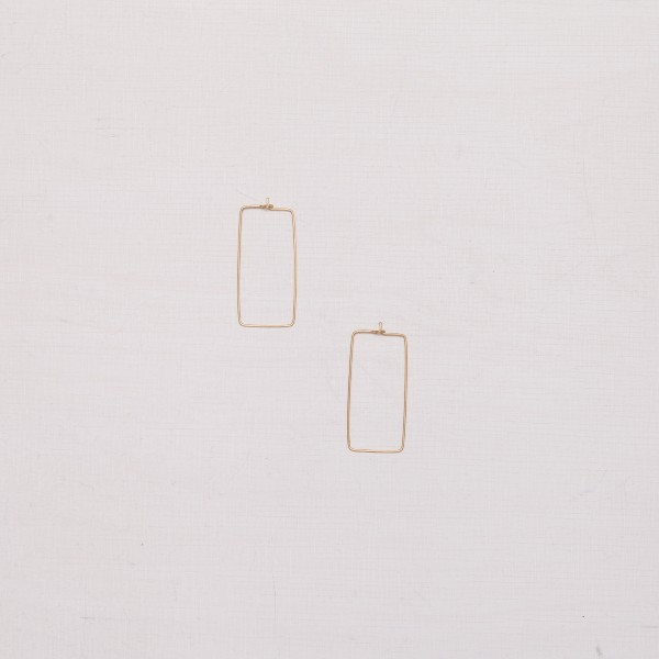 Earring Creole Rectangle
